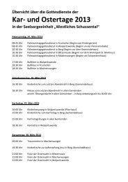 Kar- und Ostertage 2013 - Westliches Schussental