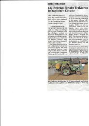 LQ Beiträge für alte Traktoren im täglichen Einsatz