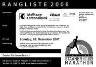 Gesamtrangliste 2006 - Staaner Stadtlauf