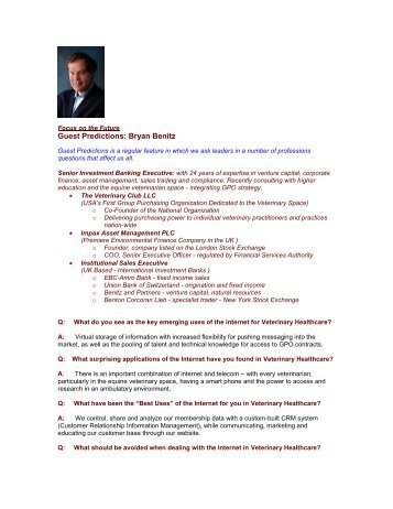 Guest Predictions: Bryan Benitz - The Regis Group Inc