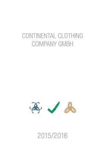 Continental Clothing Katalog 2015