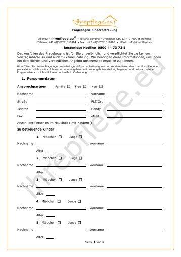 Fragebogen partnervermittlung pdf