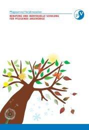 Beratung und individuelle Schulung für pflegende Angehörige