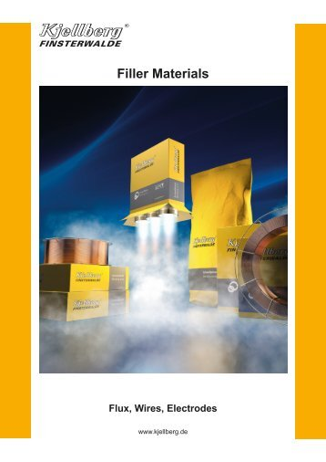 Brochure Filler Materials - Kjellberg Finsterwalde