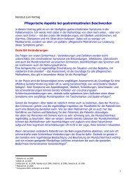 Pflegerische Aspekte bei gastrointestinalen Beschwerden