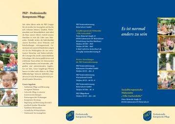 Flyer Villa Sachsenhohe - PKP Seniorenbetreuung
