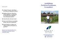 Ausbildung Fachfrau/Fachmann Gesundheit - Spitex Zollikon