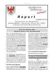 Report 03 - 2013 - Senioren Union Brandenburg