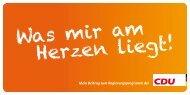 Was mir am Herzen liegt! - Senioren Union Brandenburg