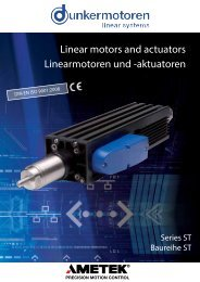 Linear motors and actuators Linearmotoren und ... - Dunkermotoren