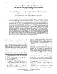 Mesoporous Ethane-Silicas Functionalized with trans - American ...