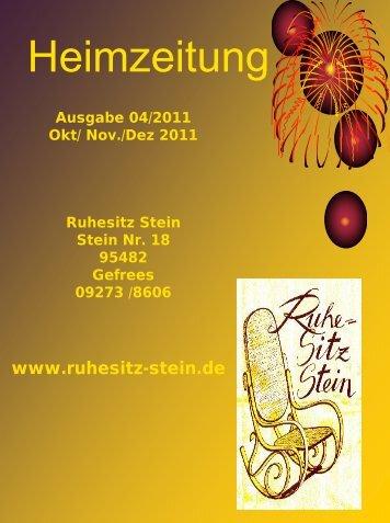 Ausgabe 04-2011 - Ruhesitz Stein