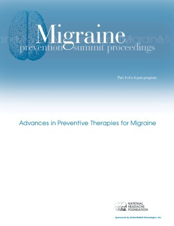 Advances in Preventive Therapies for Migraine - National Headache ...