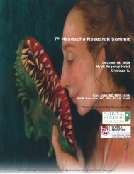 7th Headache Research Summit Syllabus - National Headache ...