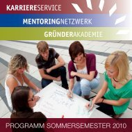 PROGRAMM sOMMeRseMesteR 2010  - Mentoringnetzwerk Lausitz