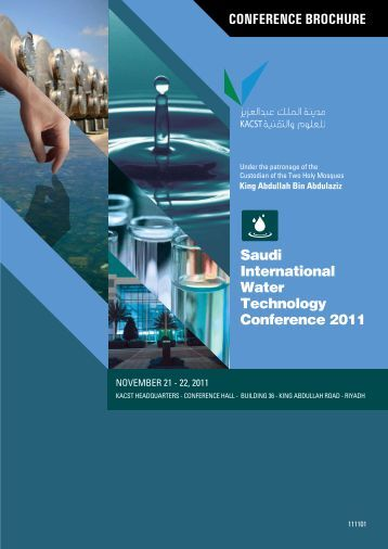 CONFERENCE BROCHURE Saudi International Water Technology ...