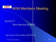 New Services in NGN