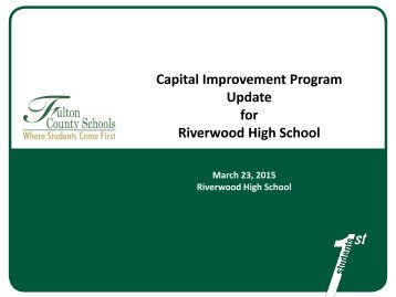 Capital Plan Project Update 032315