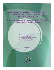 Canadian Research Working Group for Evidence-based Practice in ...
