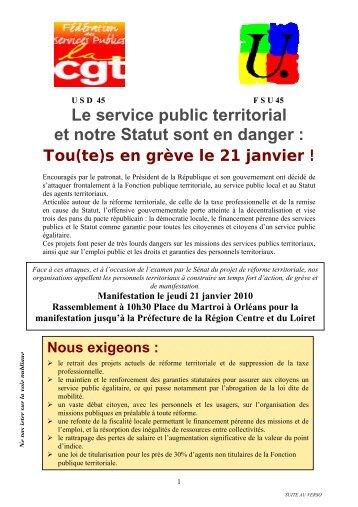 90c2784c886 Le service public territorial et notre Statut sont en danger