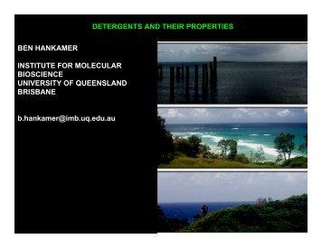 DETERGENTS AND THEIR PROPERTIES BEN HANKAMER ... - 2dx