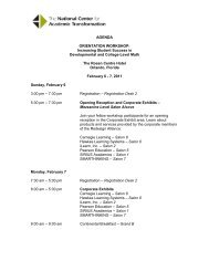 Orientation Workshop - National Center for Academic