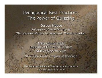 Gordon Hodge - National Center for Academic