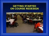 Getting Started On Course Redesign - National Center for Academic