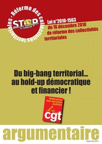 Du big-bang territorial... au hold-up démocratique et financier !