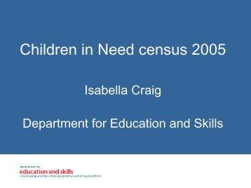 Children in Need census 2005