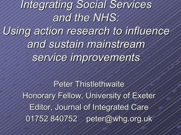 PDF file - Social Services Research Group