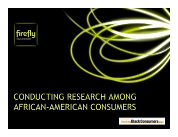 Insights into the African-American Market-MB - Reaching Black ...
