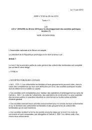 Le 11 juin 2010 JORF n°0122 du 29 mai 2010 Texte n°1 LOI LOI n ...