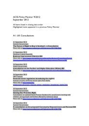 ACSS Policy Monitor 9/2012 September 2012 A1. UK Consultations