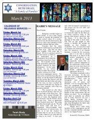 March 2013.pub - the Congregation Beth Israel