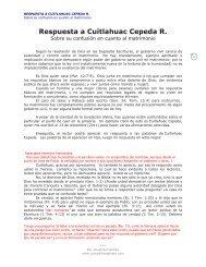Respuesta a Cuitlahuac Cepeda R - Josue Evangelista