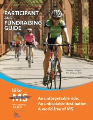 Rider Guide - Bike MS - National Multiple Sclerosis Society