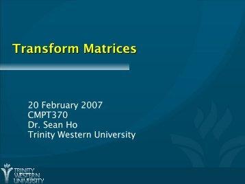 Transform Matrices