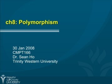 ch8: Polymorphism