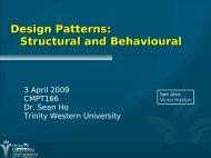 Design Patterns: Structural and Behavioural