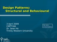 Design Patterns: Structural and Behavioural