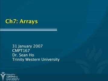 Ch7: Arrays
