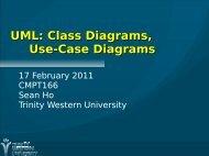 UML: Class Diagrams and Use-Case Diagrams