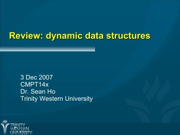 Review: dynamic data structures
