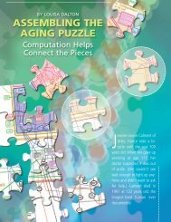 ASSEMBLING THE AGING PUZZLE - Biomedical Computation Review