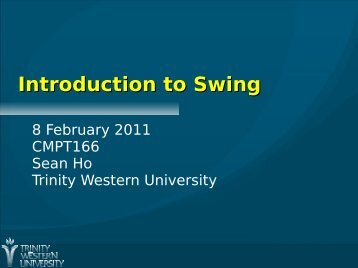 Introduction to Swing, Event Handlers
