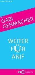 Bürgermeisterkandidatin Gabi Gehmacher