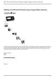 USB Spy Cam DVR with HD Pinhole Camera ... - MadPrice Spy Shop