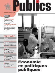Economie et politiques publiques - CGT Services publics