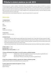 Příloha k účetní závěrce za rok 2012 - Šarm spol. s ro